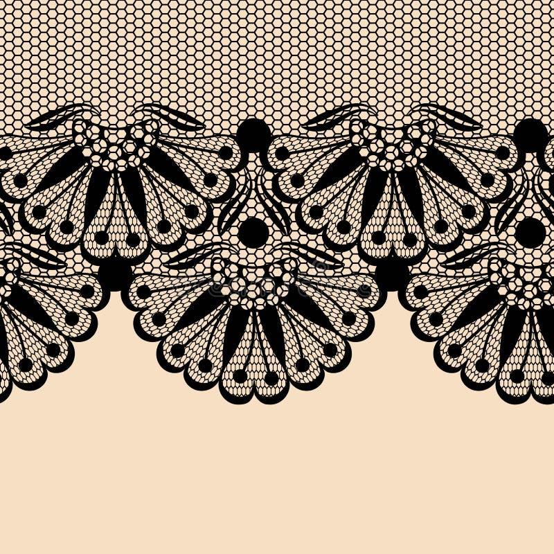 De zwarte grens van het bloemkant royalty-vrije illustratie