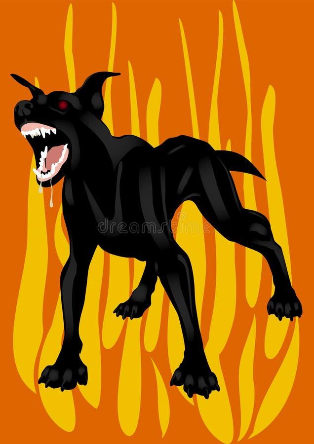 De zwarte helhond vector illustratie
