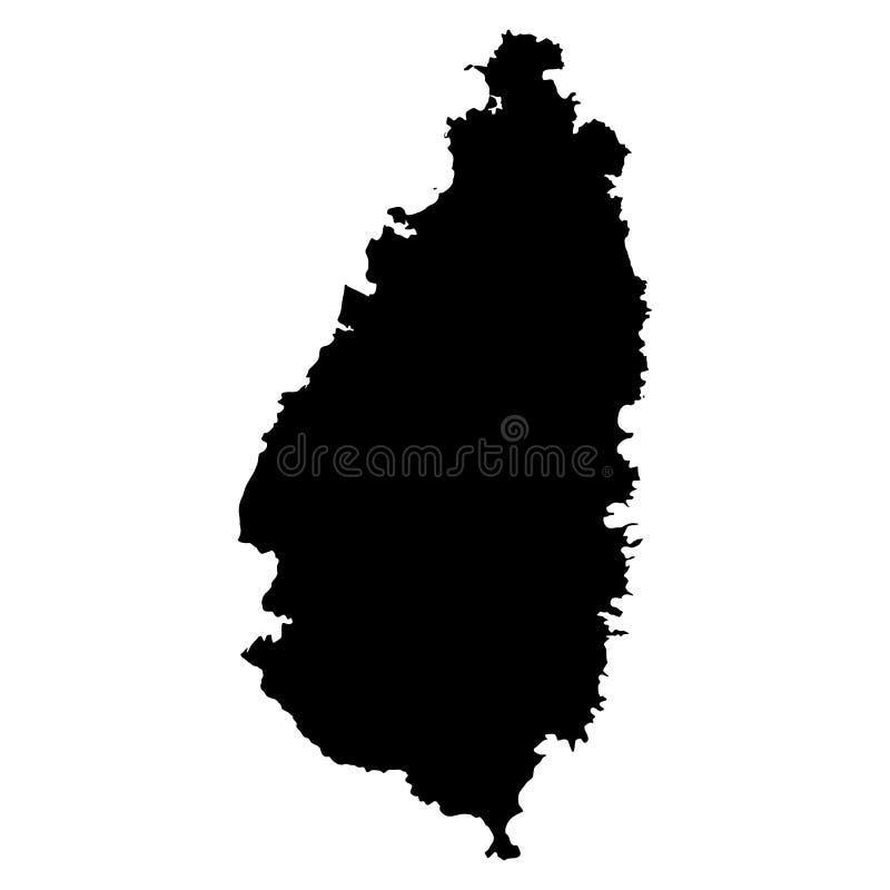 De zwarte kaart van heilige Lucia op witte achtergrond stock fotografie