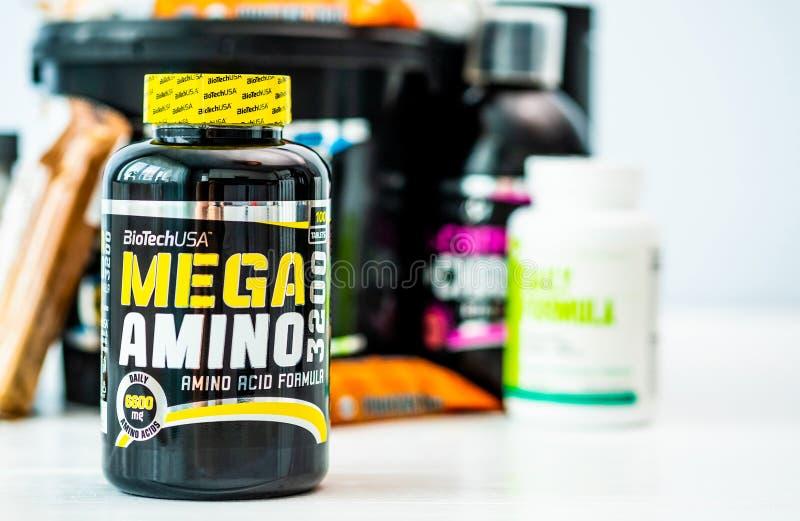 De zwarte kan van Mega Amino royalty-vrije stock afbeelding