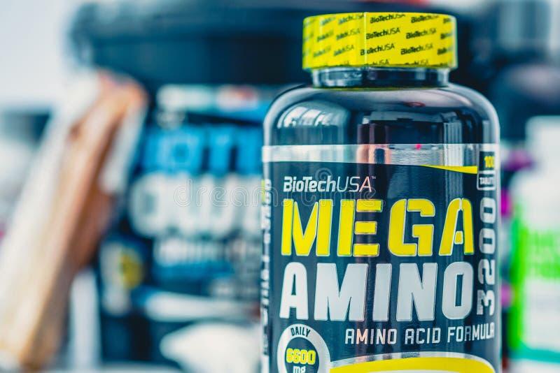 De zwarte kan van Mega Amino stock afbeeldingen
