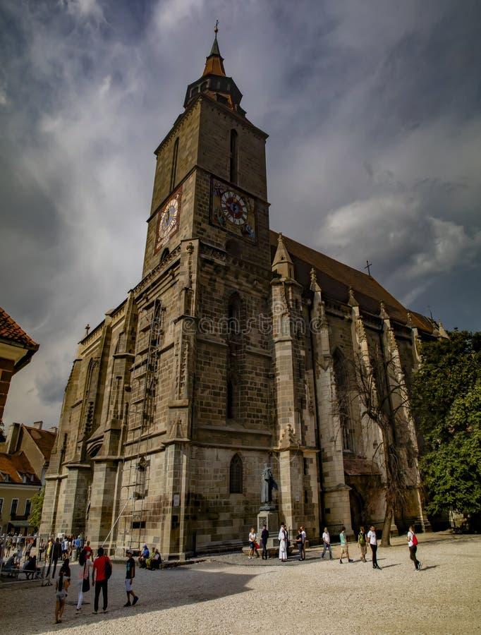 De Zwarte Kerk in Brasov, Roemeni? royalty-vrije stock foto's