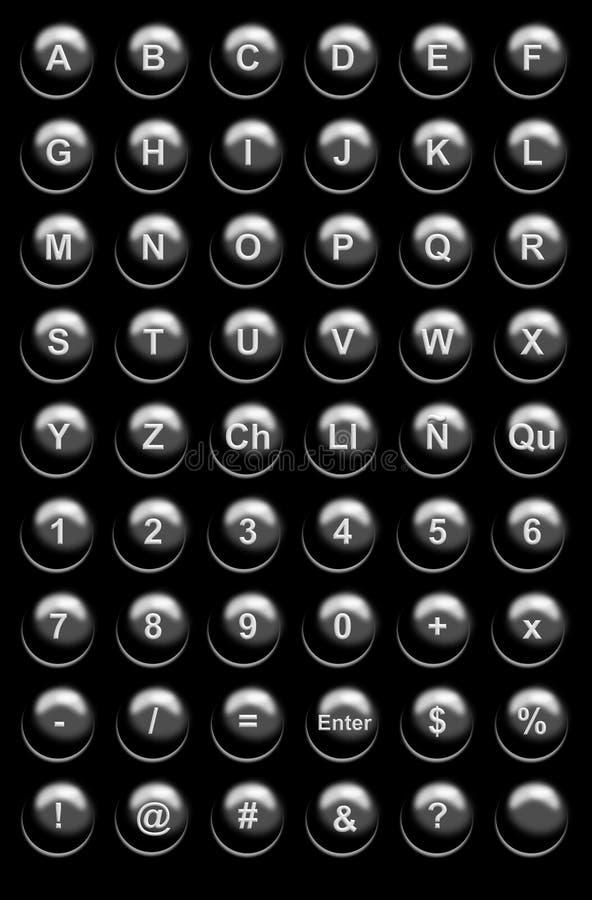 De zwarte Knopen van de Website stock illustratie