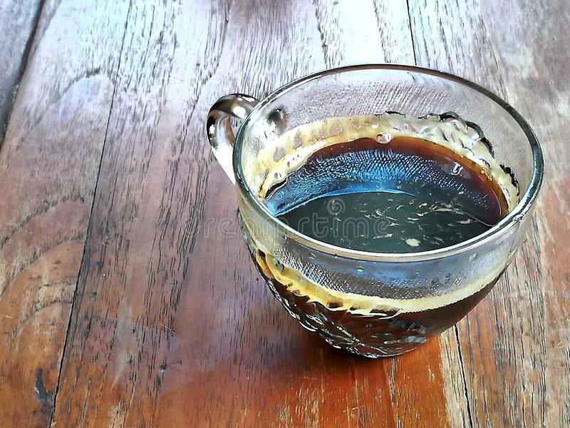 De zwarte Koffie en ontspant Tijd royalty-vrije stock afbeelding
