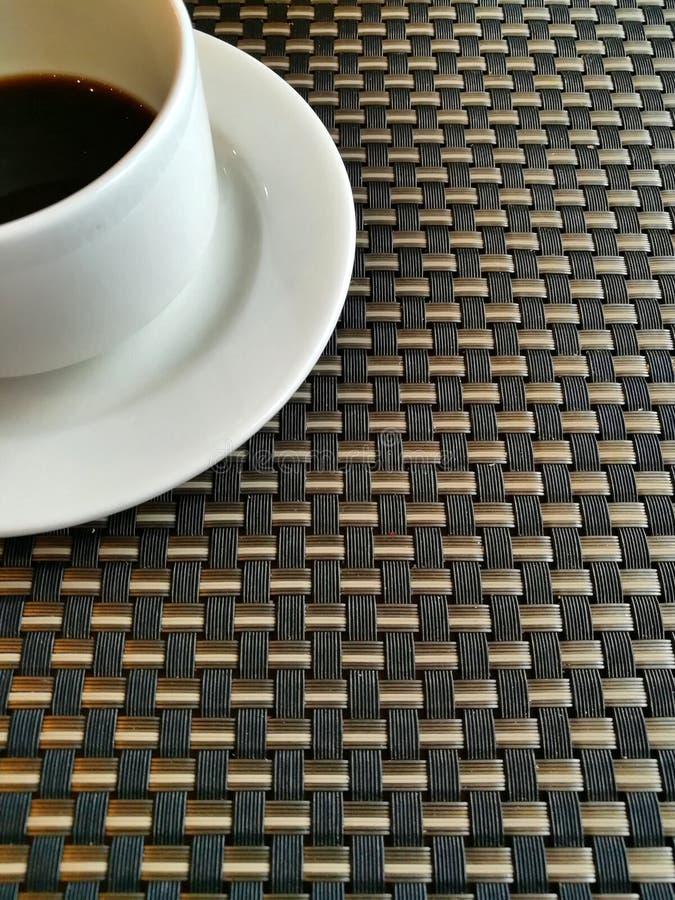 De zwarte Koffie en ontspant Tijd stock foto's
