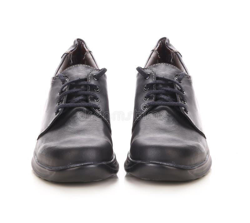 De zwarte laarzen van de sportwinter. royalty-vrije stock fotografie