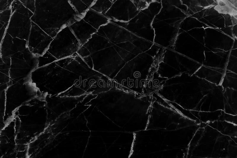 De zwarte marmeren natuurlijke achtergrond van de patroontextuur royalty-vrije stock foto's