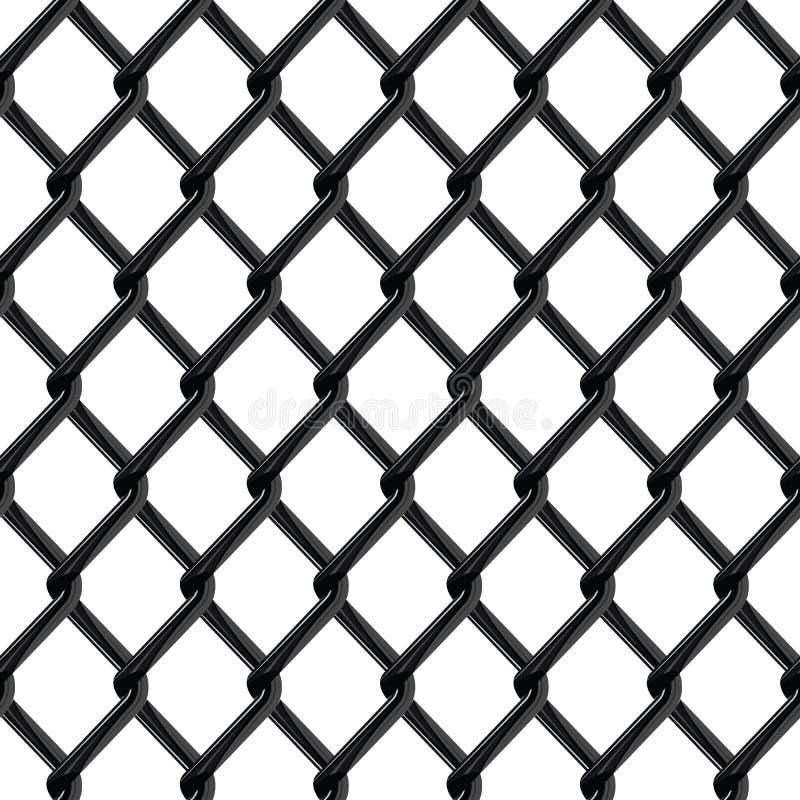 De zwarte naadloze structuur van de chroomomheining stock illustratie