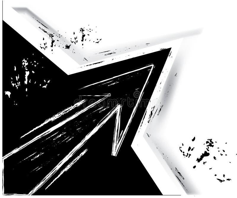 De zwarte pijl ploetert grens vector illustratie