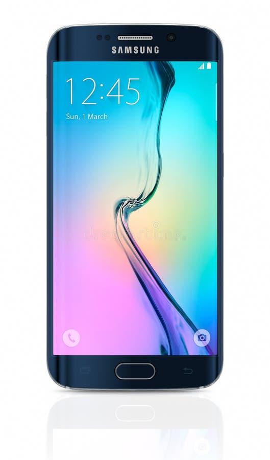 De zwarte Rand van Sapphire Samsung Galaxy S6 royalty-vrije stock foto