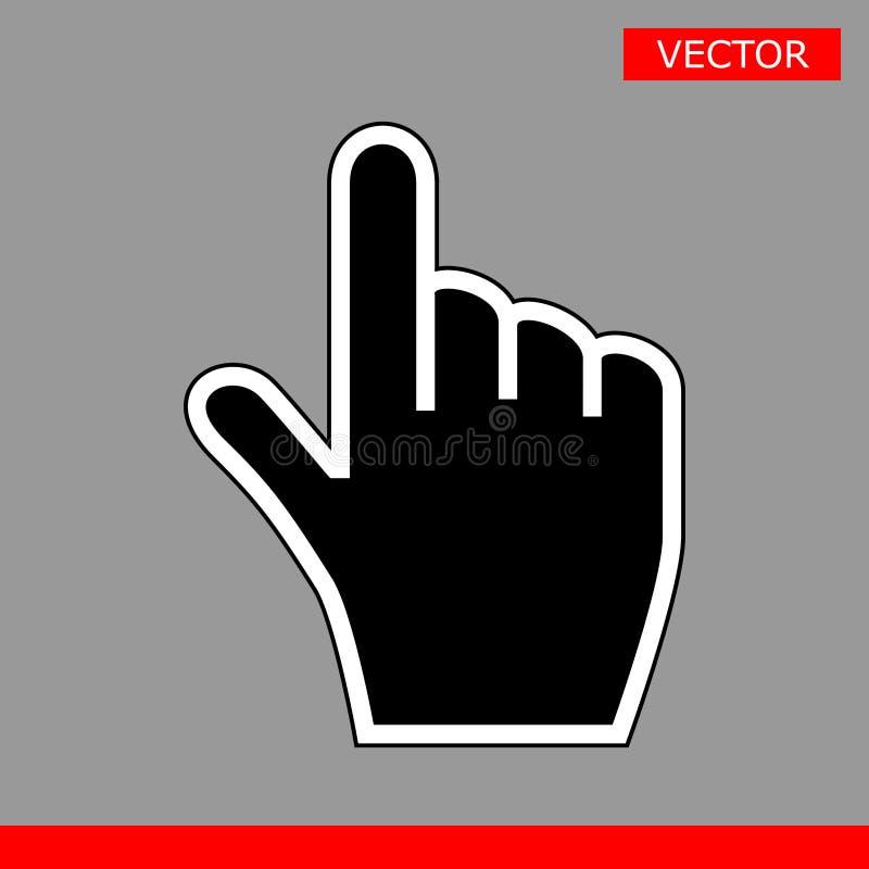 De zwarte reeks van de de pictogrammen vectorillustratie van handcurseurs royalty-vrije illustratie