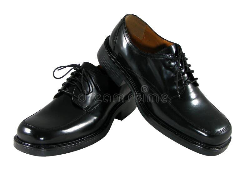 De zwarte Schoenen van de Kleding stock afbeeldingen