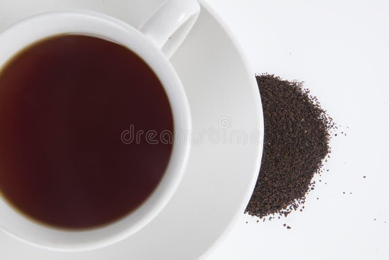 De zwarte thee van Ceylon stock afbeeldingen