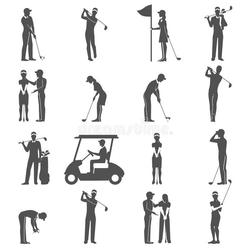 De Zwarte van golfmensen stock illustratie