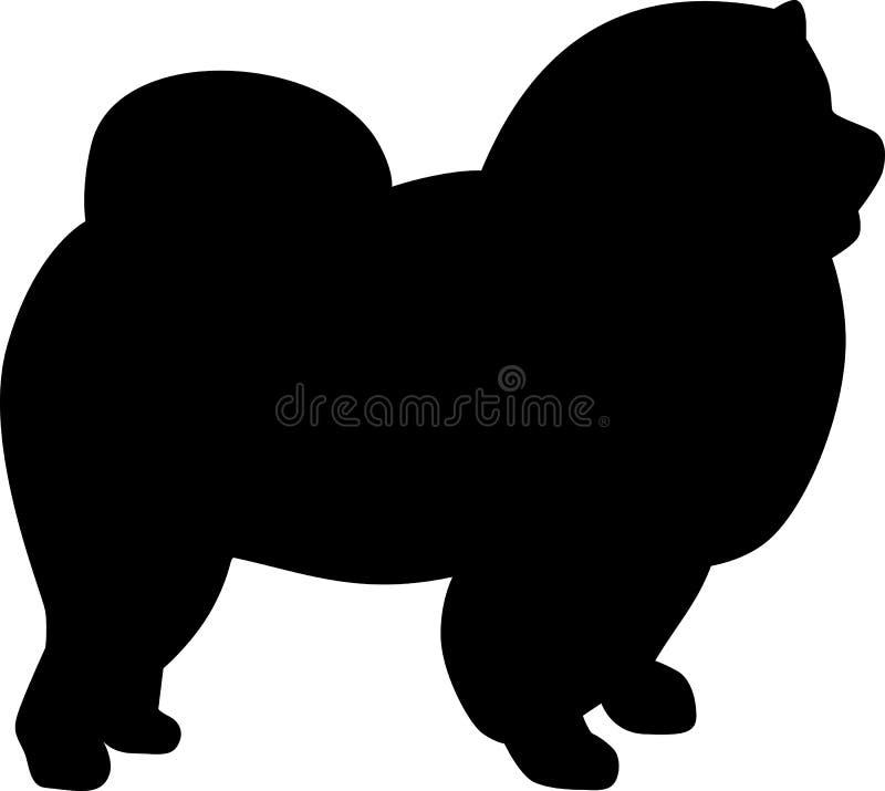 Download De Zwarte Van Het Chow-chowsilhouet Vector Illustratie - Illustratie bestaande uit silhouet, honds: 114228297