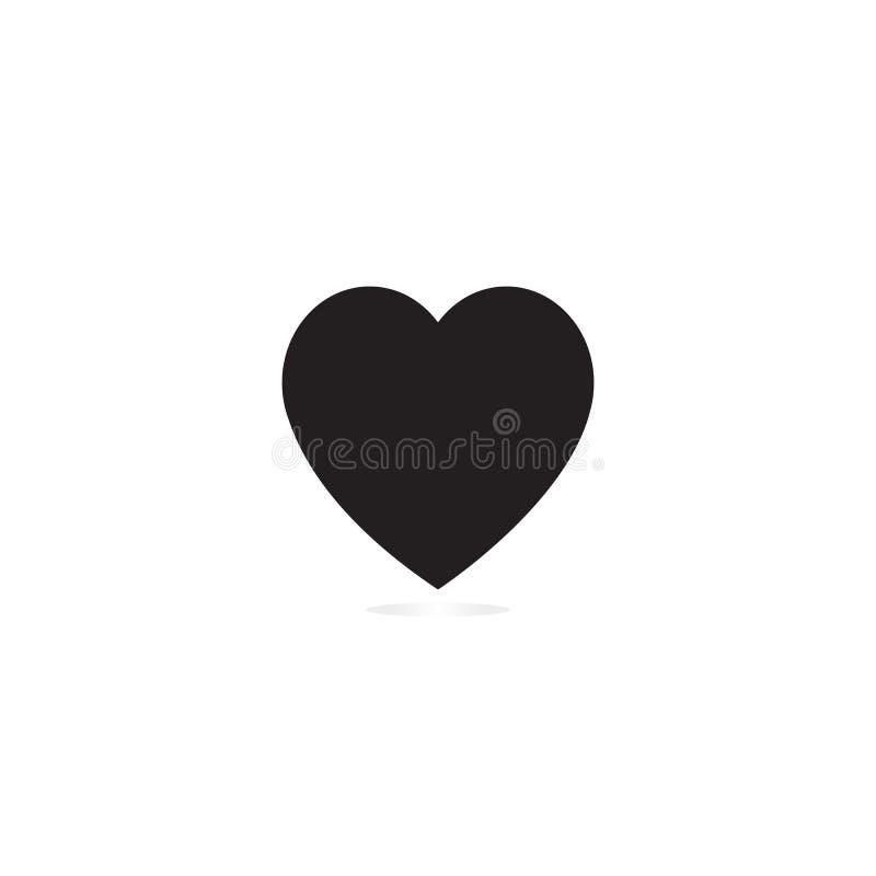 De zwarte van het hartpictogram royalty-vrije stock foto