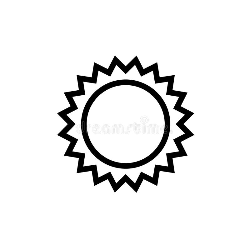 De zwarte van het de lijnpictogram van de stermedaille royalty-vrije illustratie