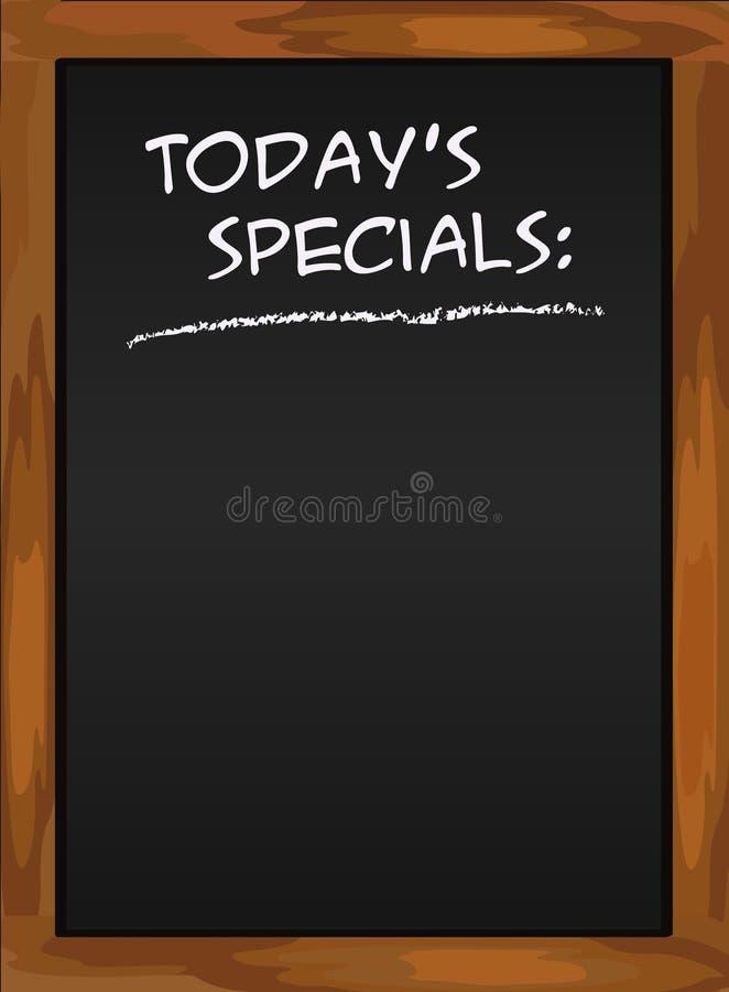 De zwarte van het menu blacboard royalty-vrije illustratie
