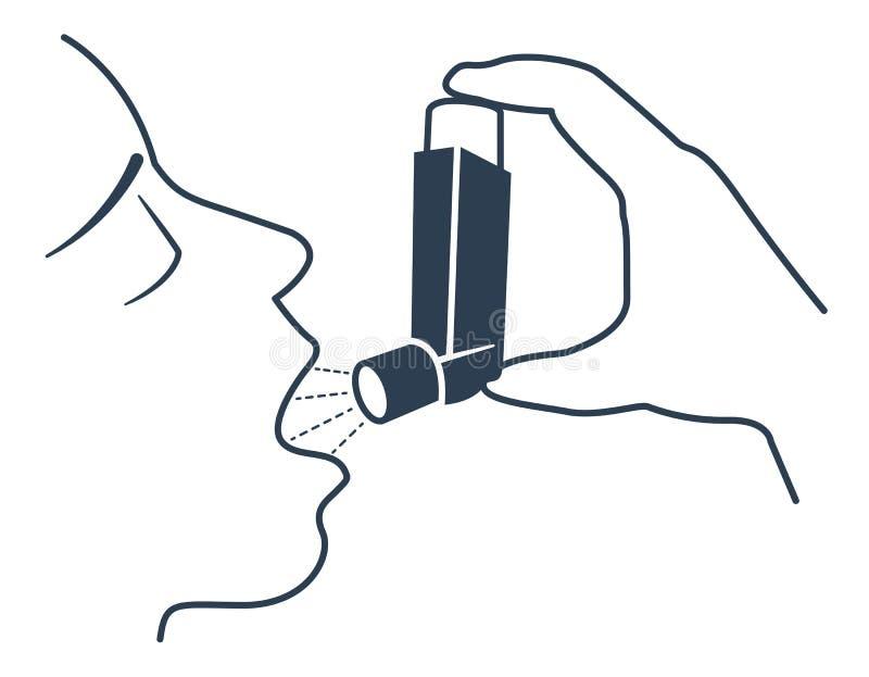 De Zwarte van het pictogramastma vector illustratie