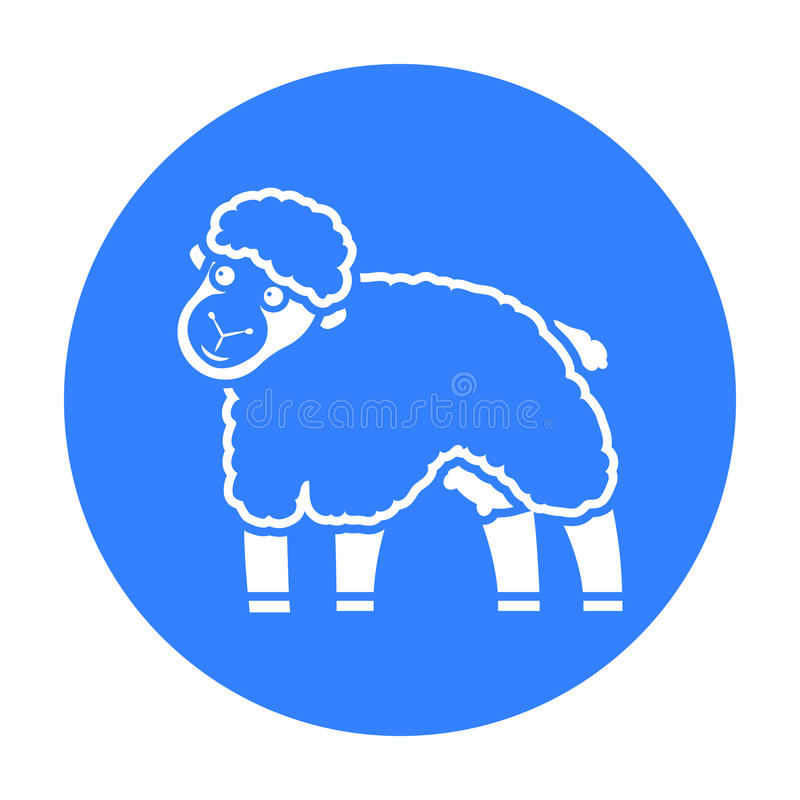 De zwarte van het schapenpictogram Enige bio, eco, biologisch productpictogram van de grote melkzwarte royalty-vrije illustratie