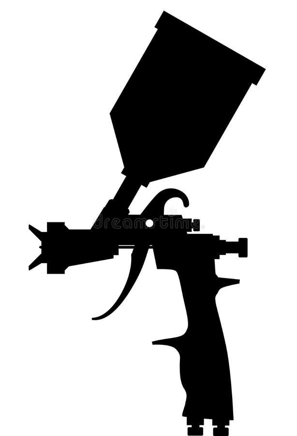 De zwarte van het verfspuitpistool royalty-vrije illustratie