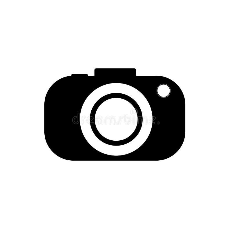 De zwarte van de pictogramcamera op witte achtergrond Vector illustratie royalty-vrije illustratie
