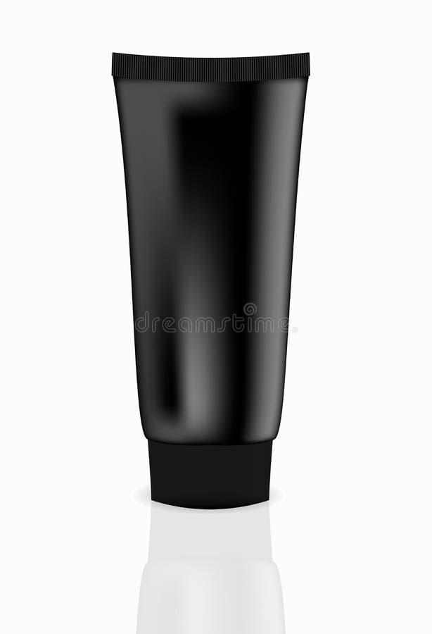 De zwarte vectorillustratie van de roombuis stock illustratie