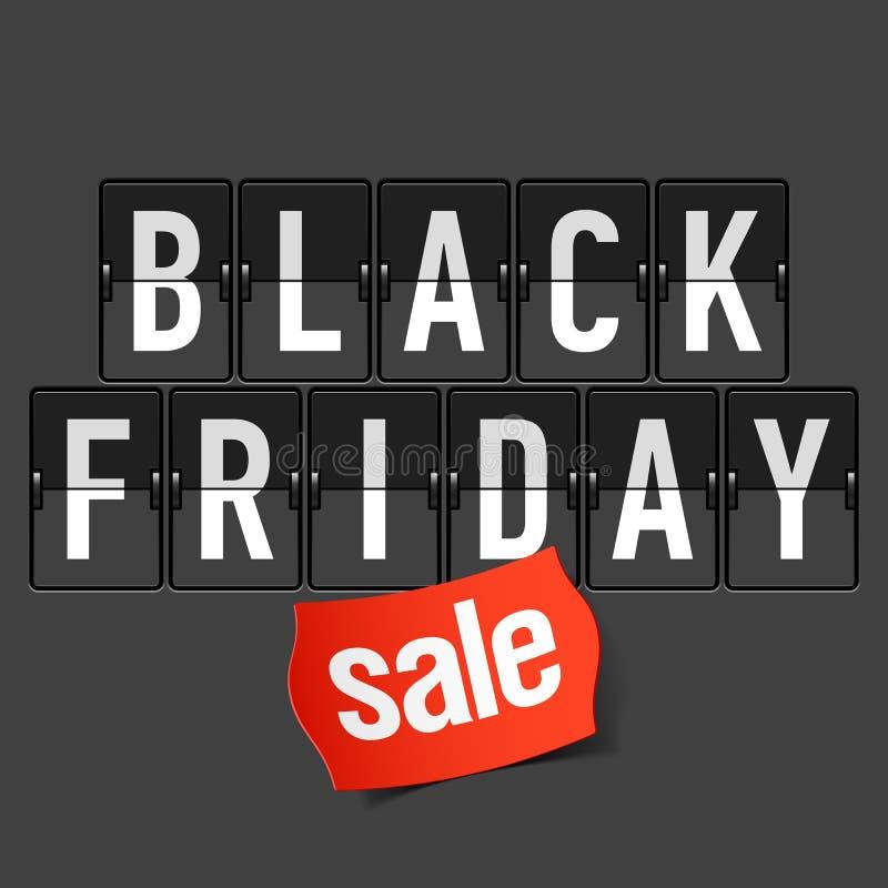 De zwarte Verkoop van de Vrijdag vector illustratie