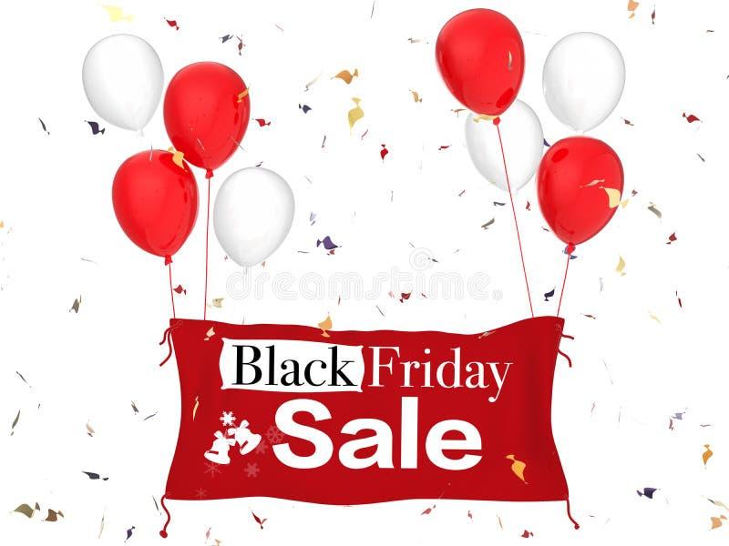 De zwarte Verkoop van de Vrijdag stock afbeelding