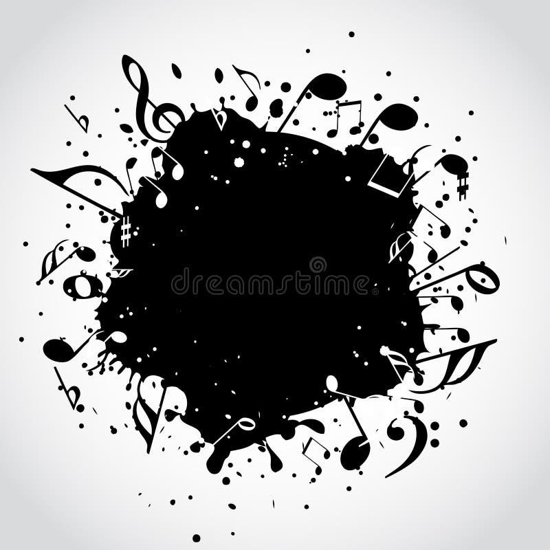 De zwarte vlek van de muziek royalty-vrije illustratie