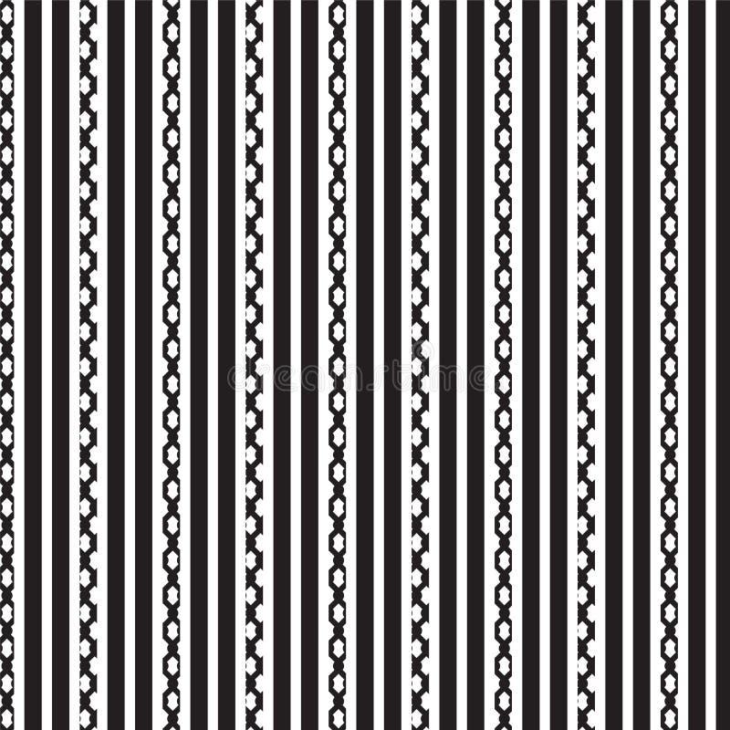 De zwarte witte verticale gestreepte en zwarte achtergrond van het kettings verticale gestreepte patroon stock foto's