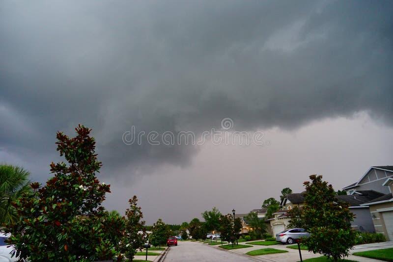 De zwarte wolk van Florida royalty-vrije stock foto's