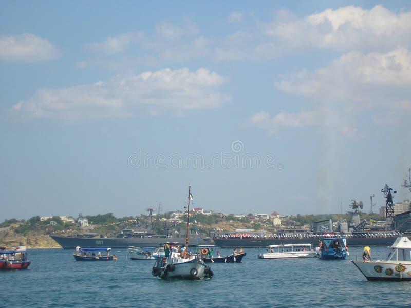 In de Zwarte Zee stock foto's