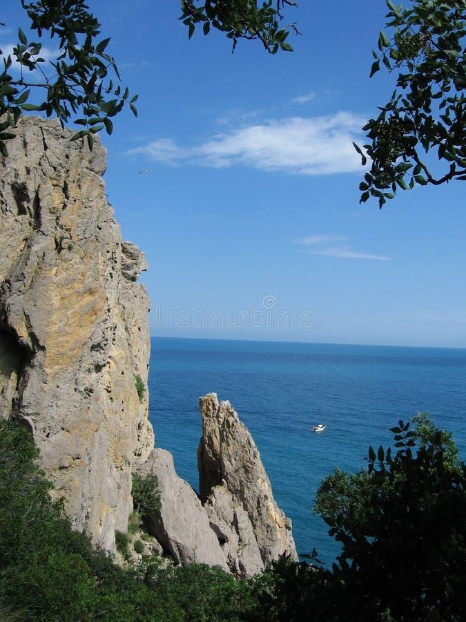 De Zwarte Zee in de Krim stock afbeeldingen
