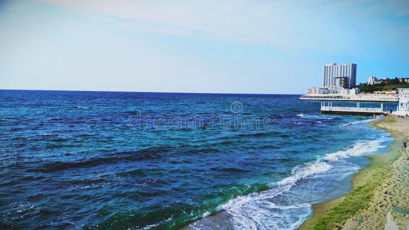 De Zwarte Zee in Odessa stock afbeeldingen