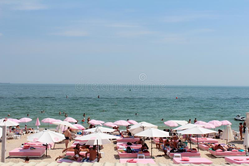 De Zwarte Zee, Odessa, de Oekraïne royalty-vrije stock foto's