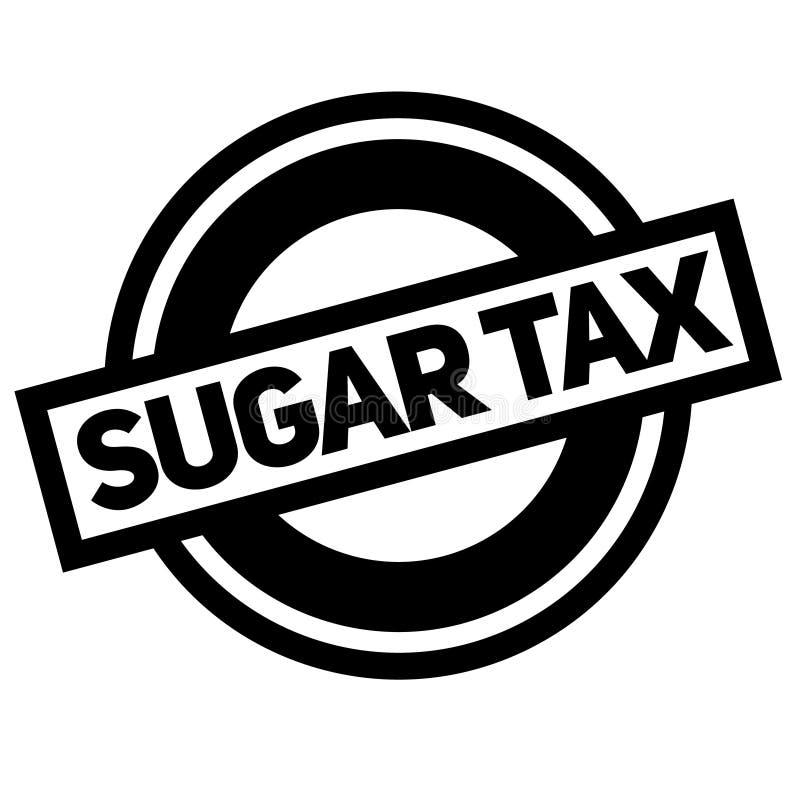 De zwarte zegel van de suikerbelasting vector illustratie