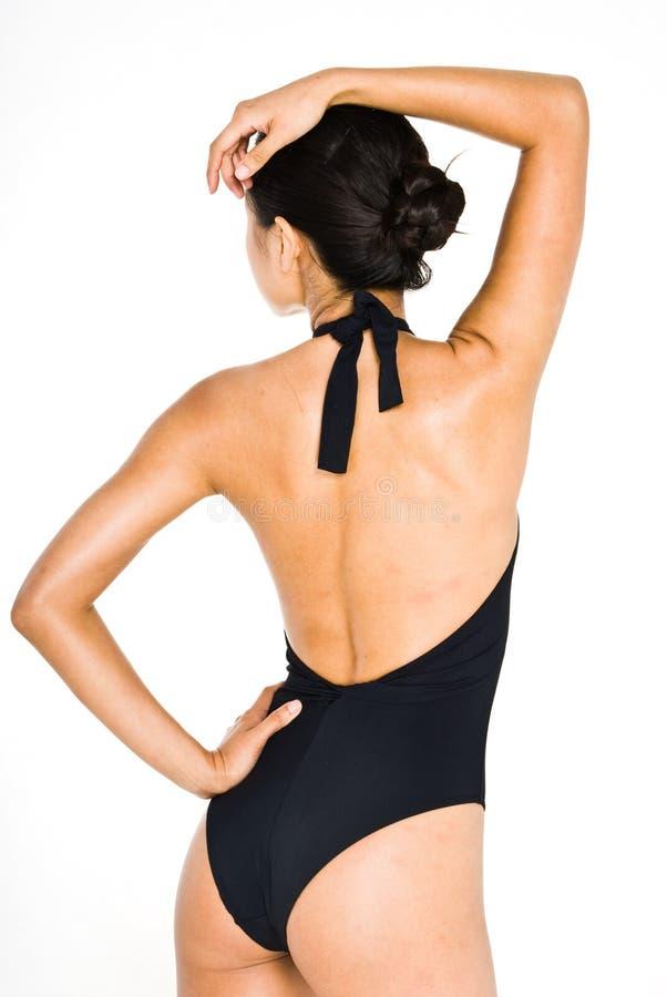De zwarte zwemt kostuum royalty-vrije stock afbeeldingen
