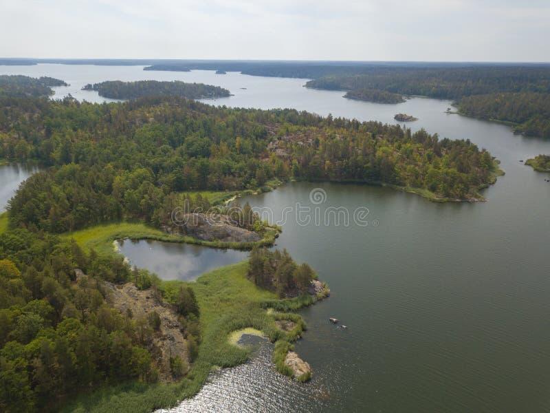 De Zweedse eilanden van de archipel stock afbeelding