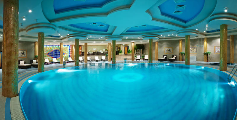De zwembaden van de luxe stock foto