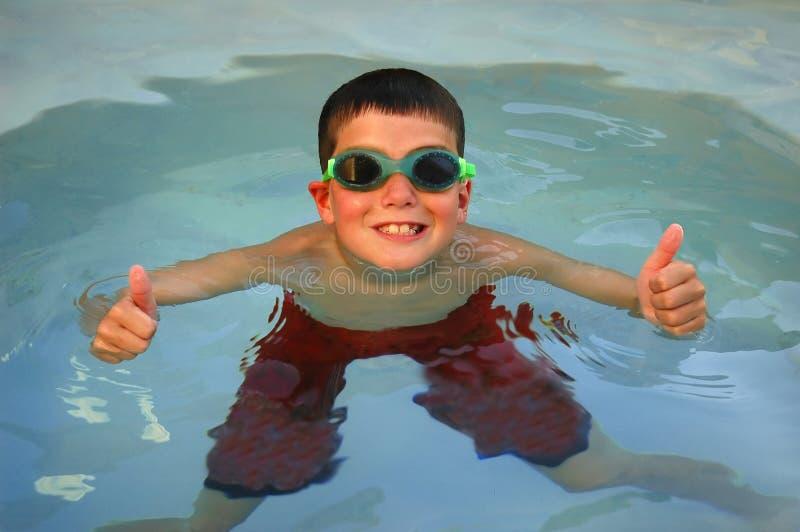 De Zwemmer Beduimelt Omhoog Royalty-vrije Stock Afbeeldingen