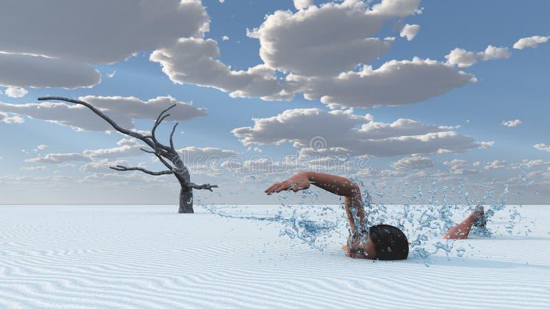De zwemmer van het woestijnzand royalty-vrije stock afbeelding