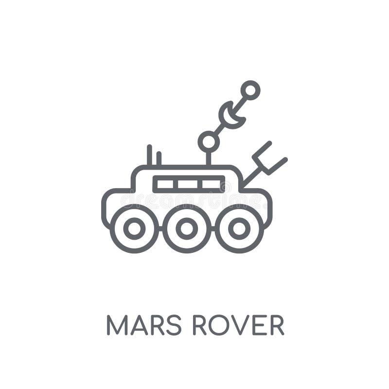 De zwerver lineair pictogram van Mars Het moderne van het de zwerverembleem van overzichtsmars concept o royalty-vrije illustratie