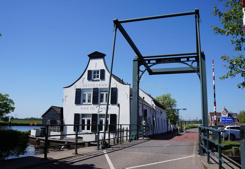 De Zweth, Midden Delfland, os Países Baixos fotografia de stock