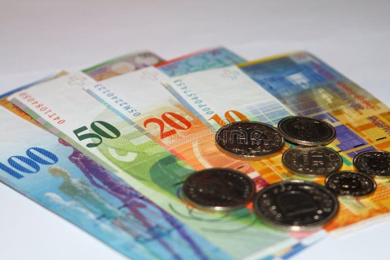 De Zwitserse frank van het geld