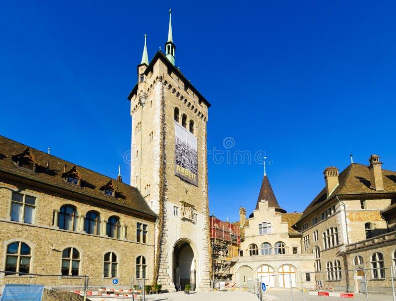 De Zwitserse Nationale Museumbouw in Zürich royalty-vrije stock afbeelding