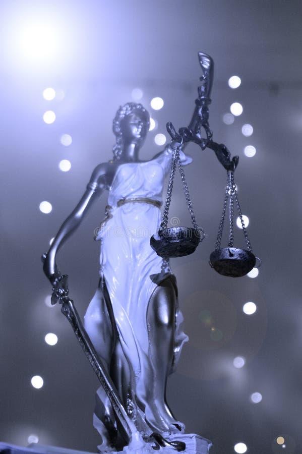 Dea del rappresentante della giustizia della legge immagine stock libera da diritti