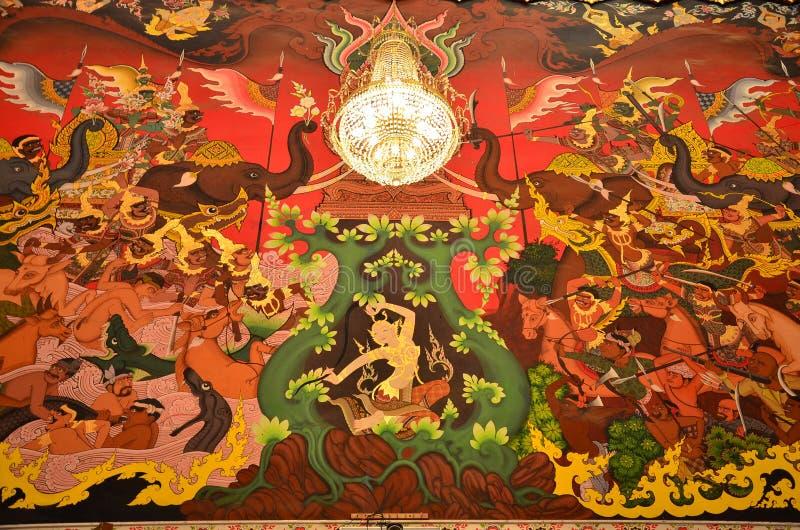 Dea della terra che protegge il Buddha fotografia stock libera da diritti