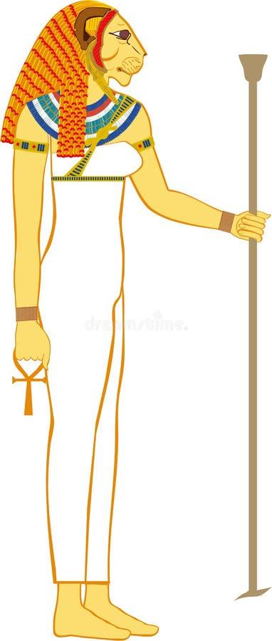 Dea egiziana Sekhmet illustrazione di stock
