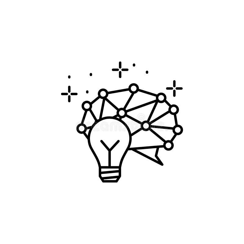 ?dea icon. Element of artificial intelligence vector illustration